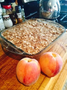 gluten free, yummy, treat, peaches, mommy, mommy life, desert, awesome